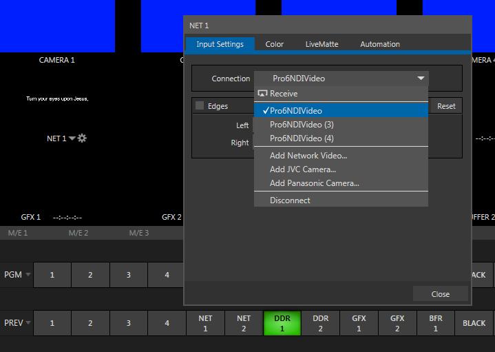 Using NDI output with ProPresenter 6 – Renewed Vision