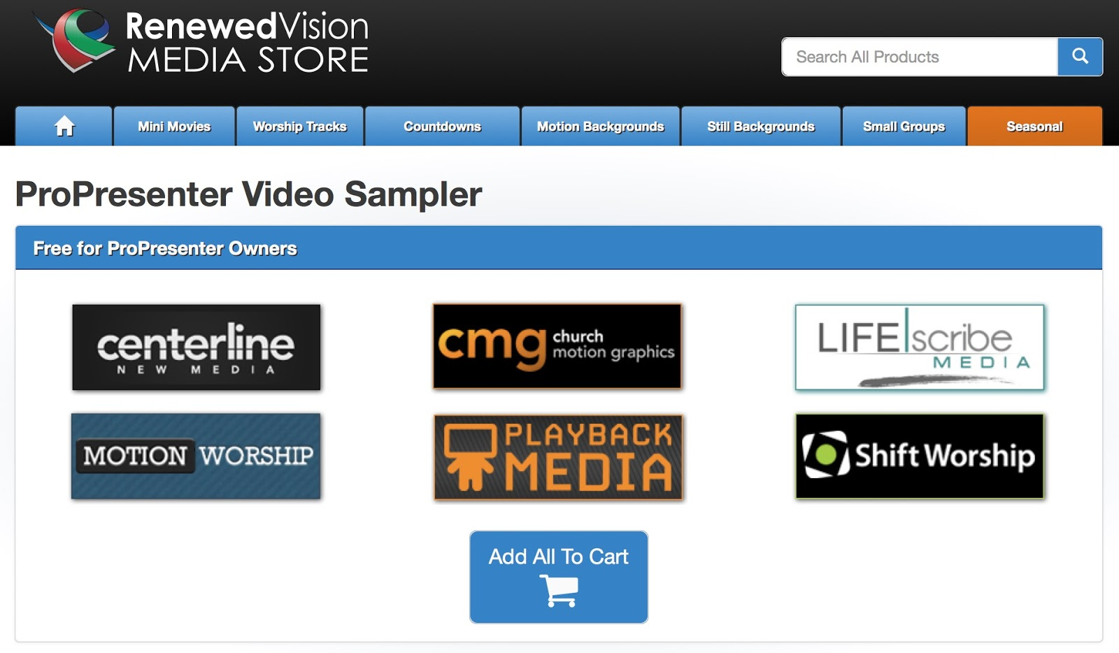 ProPresenter free media bundle – Renewed Vision